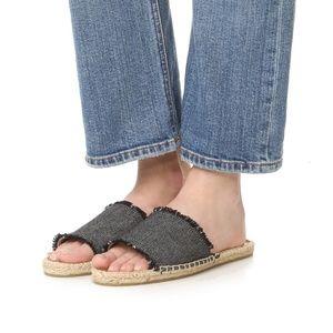 | soludos | espadrille slide sandals size 8